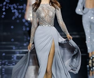 dress, Zuhair Murad, and blue image