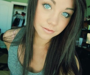 girl, eyes, and blue eyes image