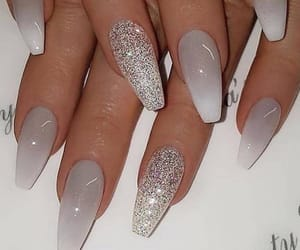 white nails image
