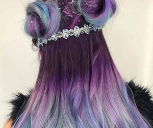 hair, beauty, and blue image