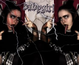aesthetic, goth, and baby girl image
