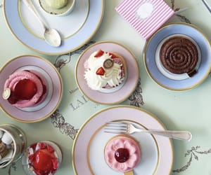 afternoon tea, cafe, and ice cream image