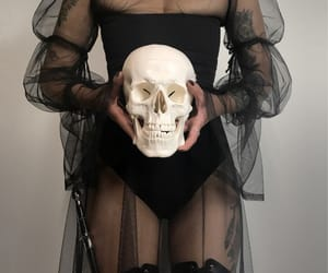 skull, black, and goth image