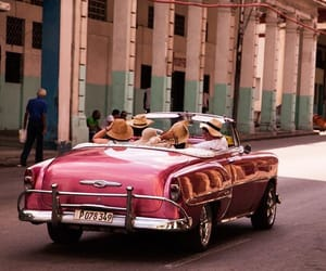 car, cuba, and fun image