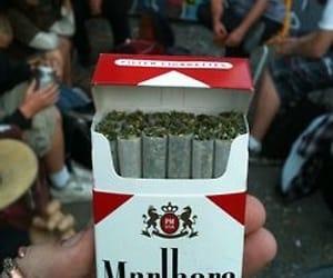 weed, marlboro, and smoke image