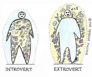 drawing, illustration, and introvert image