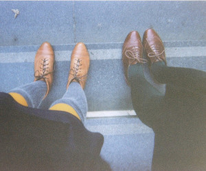 brogues, brown, and yellow image