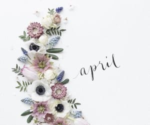 april, flowers, and months image