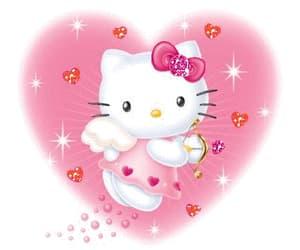 gif, hearts, and hello kitty image
