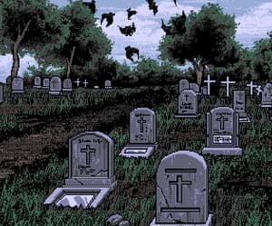 aesthetic, cemetery, and animals image