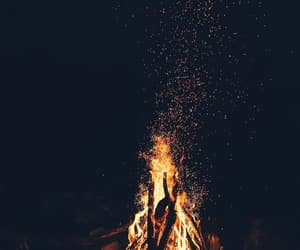 campfire and night image