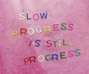 quotes, pink, and progress image