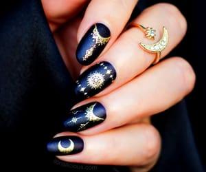 nails, black, and design image