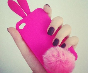 cute, pink, and iphone image