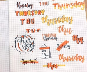 lettering, organization, and bujo image
