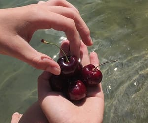 cherry, nymphet, and hands image
