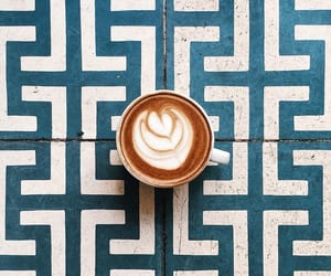 blue, coffee cup, and morning image