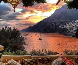 travel, sunset, and italy image