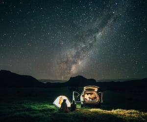 night, stars, and nature image