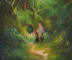 art, illustration, and the lord of the rings image