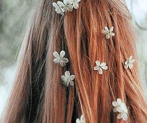 hair, flowers, and vintage image