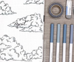 april, art, and clouds image