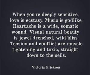 quotes, sensitive, and love image