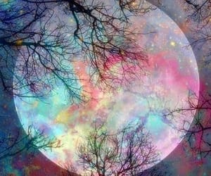 colorful, fantasy, and full moon image