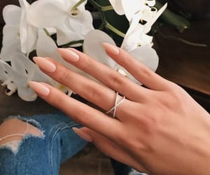 nails, beauty, and flowers image
