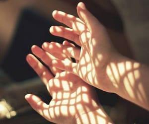hands, light, and vintage image