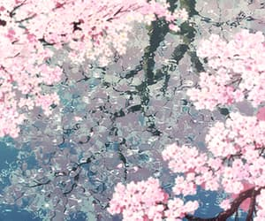 cherry blossoms, flowers, and gifs image