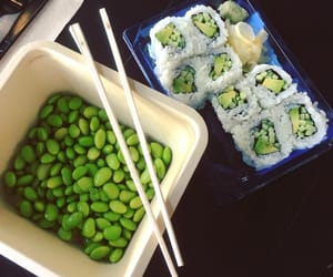edamame, roll, and groceries image