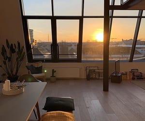 sunset, sunrise, and apartment image