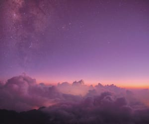 clouds, galaxy, and pink image