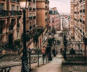 city, montmartre, and paris image