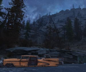 broken, cars, and mountains image