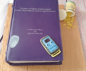 book, finger print, and cake image