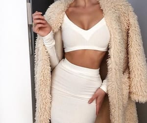 fashion, coat, and dress image