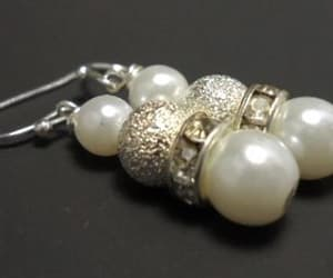 bridal jewelry, pearl jewelry, and pearl drop earrings image
