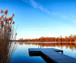 autumn, beautiful, and lake image