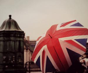 london, umbrella, and uk image