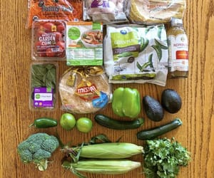 broccoli, market, and organic image