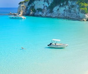 beach, sunshine, and blue image
