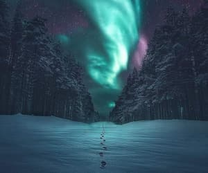 beautiful, northern lights, and place image