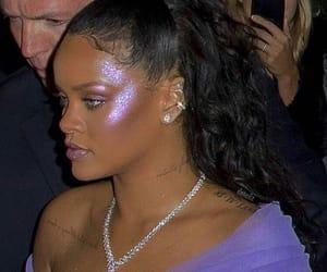 rihanna, purple, and makeup image