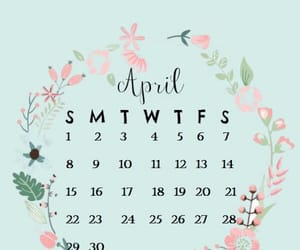 april, calendar, and month image