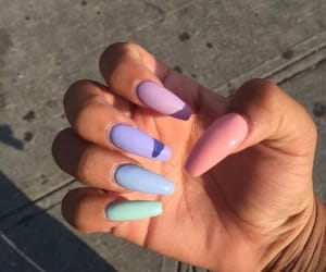 nails, pastel, and acrylics image