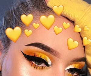makeup, eyeshadow, and yellow image