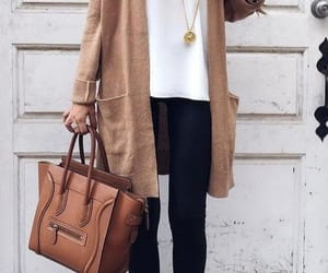 brown, cardigan, and style image