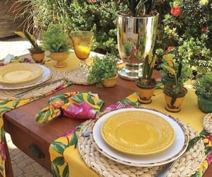 cool, summer, and table image